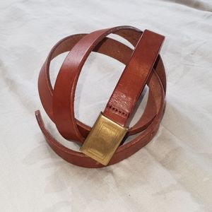 J.Crew skinny brown leather belt